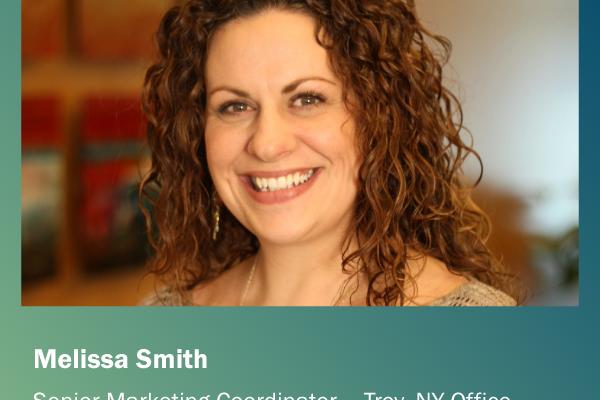 Melissa Smith, Senior Marketing Coordinator, Gedeon Engineering, Troy NY office