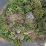 Bunce Island aerial view by drone