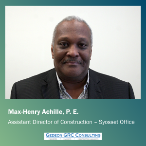 Max Achille, new Assistant Director of Construction at Gedeon GRC