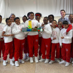 A team of school kids plan their sustainable city