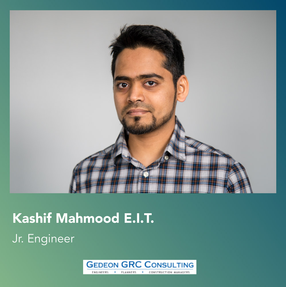 Kashif Mahmood, engineer at Gedeon GRC