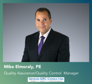 Welcome Mike Elmoraly, PE, Quality Assurance/Quality Control Manager